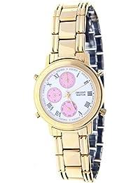 Orient Watch 93043-f Reloj Analogico Unisex Caja De Dorado Esfera Color  Blanco e9b46fd51964