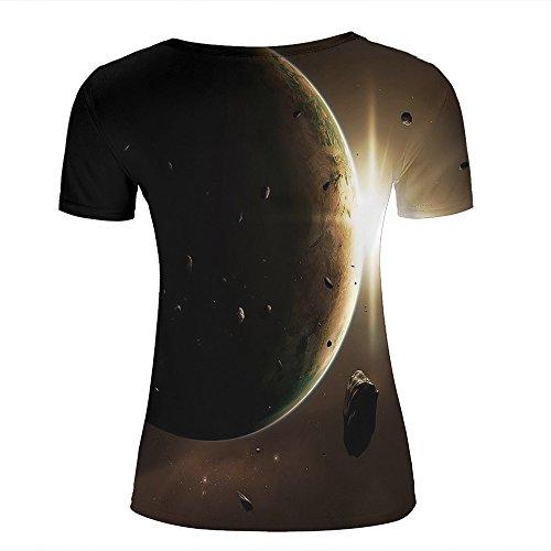 qianyishop Mens Womens 3d Print T ShirtsGalaxy Space Graphic Fashion Couple Tees Top Short Sleeve D