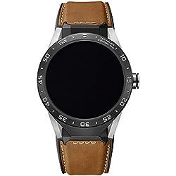 TAG Heuer Connected SAR8A80. FT6070- Reloj inteligente de cuero para hombre, color marrón.