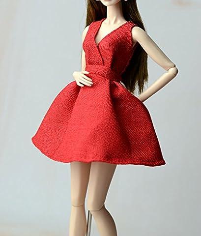 AK-30 Schöne und modische Handgefertigte Puppe Kleidung für Barbie Puppen/Freizeit Puppenzubehör Dress Up (Rot)