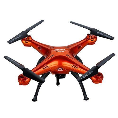 Syma X5SW/X5SW-1 Dron de versión actualizada del X5C Explorers RTF Drone, con Control Remoto – 2,4 GHz, 6 Ejes, 4 Canales, 3D FPV