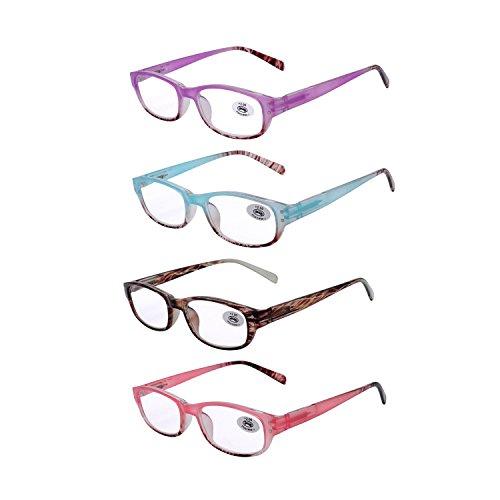 AMILLET Gafas lectura 4 paquetes mujeres, elegante
