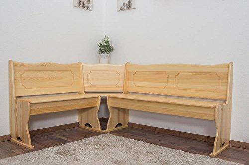 Eckbank Kiefer massiv Vollholz natur Junco 243 - Abmessungen: 84 x 140 x 180 cm (H x B x L) - Küche Kiefer Sitzbank