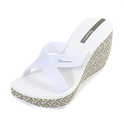 Ipanema Lipstick Straps Wedge Frauen Flip-Flops/Sandalen-White-41/42 (Frauen Collection White)