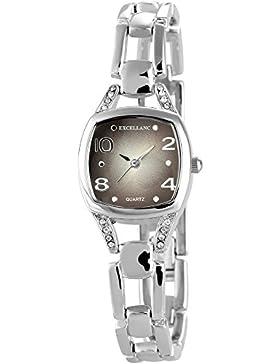 Excellanc Damen-Armbanduhr Analog Quarz verschiedene Materialien 180421000041