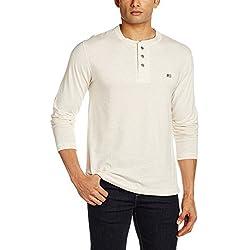 Jockey Men's Cotton T-Shirt (8901326113202_US87_Medium_Cream Melange)