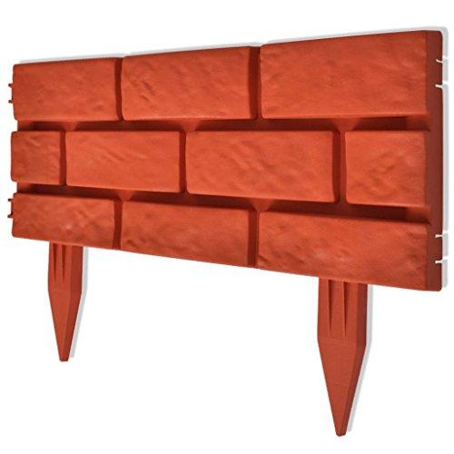 Mattoni Per Recinzione Giardino.Vidaxl 11x Divisore Prato 5 M Design Mattoni Recinto