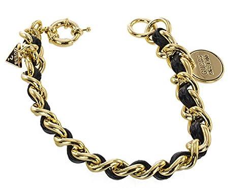 Guess Damen-Armband Metall mit Leder und Anhänger UBB71222