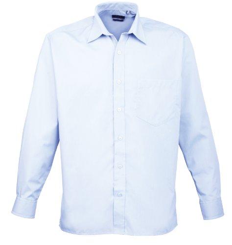 Licht Blau Popeline-hemd (Premier Langarm Popeline-Hemd Licht Blau 15.5)