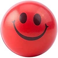HuXwei 2pcs Happy Smile Face Anti Stress Relief Sponge Foam Ball Hand Wrist Squeeze Exercise-B