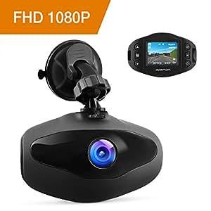 APEMAN Mini Dash Cam Telecamera Videocameradaauto 1080P FHD con Sony Sensore, Obiettivo 650 NM, WDR, Registrazione a Ciclo, Rilevamento Movimento, Monitoraggio del Parcheggio e G-Sensore