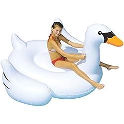 Juguetes gigantes para nadar - Balsa flotante inflable de la piscina del cisne - Juguete inflable grande flotante de la piscina al aire libre para los adultos y los niños
