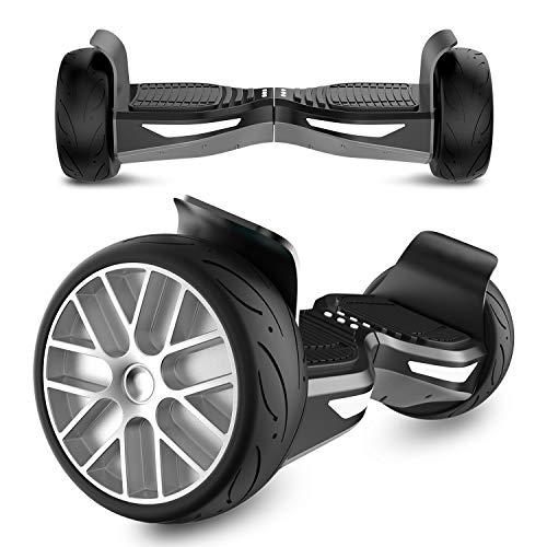 GeekMe Elektro Self Balance Scooter, Hoverboard SUV UL Zertifiziert mit Bluetooth Lautsprecher, LED Licht, APP Funktion, Kinder Sicherheitsmodus