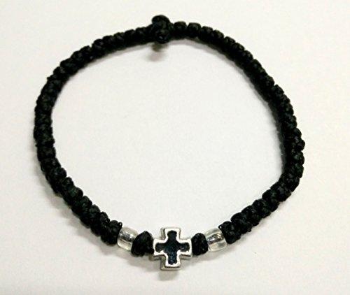 Komboskoini, braccialetto rosario ortodosso realizzato a mano, con 33 nodi, 5608B, colore: nero - Russo Preghiera Ortodossa