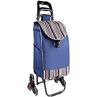 Carrito de compras Plegable portátil, carro de mano de utilidad, escalador, ruedas giratorias