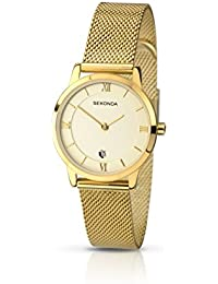 Sekonda Women's Quartz Watch with Beige Dial Analogue Display and Gold Stainless Steel Bracelet 2103.27