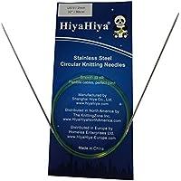HiyaHiya 81,28 cm/80 cm x 2 mm de acero inoxidable de agujas circulares fijas
