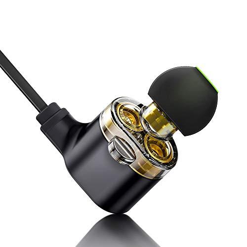 ESR cuffie wireless con doppio driver, auricolari Bluetooth leggeri, suono  HD con microfono, auricolari sportivi per corsa e allenamento