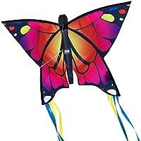 CIM Leichtwind Schmetterling Drachen - Butterfly - Einleiner Flugdrachen für Kinder ab 3 Jahren - 58x40cm - inkl. 20m Drachenschnur - fertig aufgebaut - Sofort flugbereit