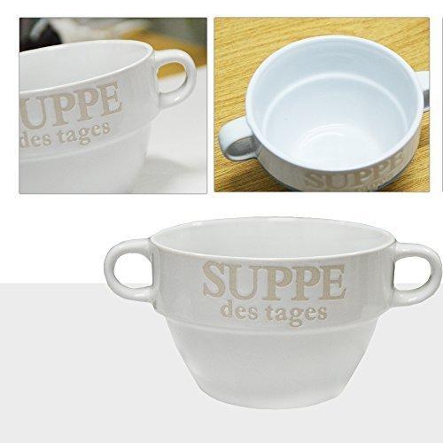 Suppen Tasse Suppenschüssel Schüssel Suppenterrine Landhaus (Weiß) ()