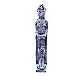 Steinfigur buddha stehend steinguss gartenfigur feng shui for Steinfigur buddha garten