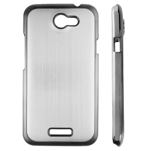 Saxonia. Aluminium Case für Apple iPhone 5 5S Hochwertige Brushed Alu Schutzhülle Handyhülle Back Cover   beste Qualität und Verarbeitung   Farbe:Pink-Strass Silber