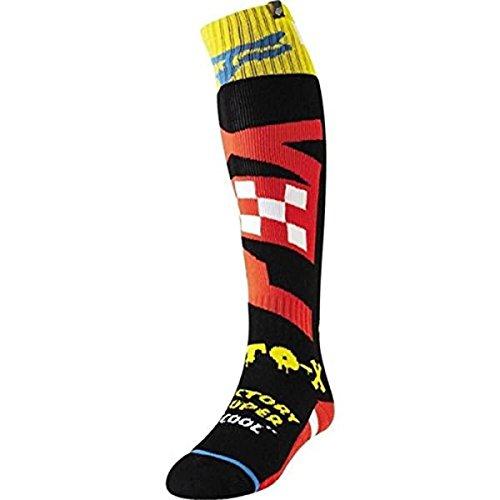 Fox Socken FRI Thin Czar Black/Yellow, Größe L