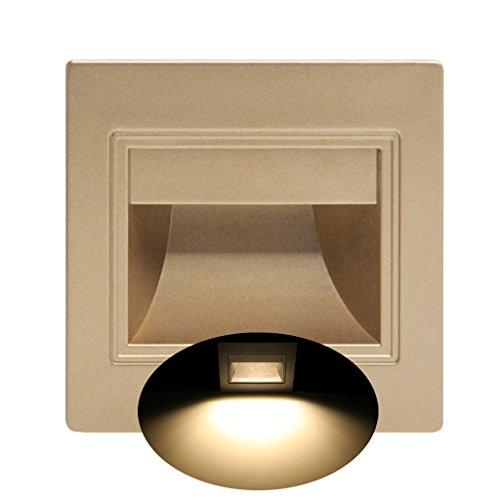 lailongp - Lámpara LED empotrable (1,5 W, 86 interruptores, Tipo Down Light,...