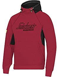 Snickers 28151604005 Sweat-shirt à capuche Taille M Rouge Chili