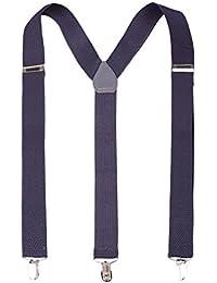 Formal Fashion Adjustable Suspenders - Dark Grey