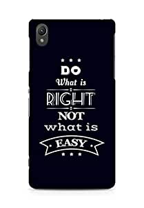 Amez Do what is Right Not what is Easy Back Cover For Sony Xperia Z2