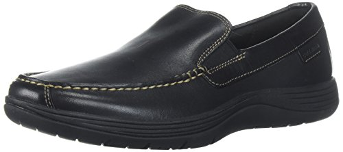 Cole Haan Men's Lewiston Venetian Loafer, Black with Copper Stiching, 7 Wide US Mens Black Cole Haan