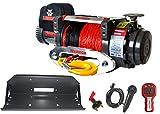 Verricello con cavo elettrico Warrior Samurai S 20000 S 20000 9,1 t 24 V cavo plastico - PROFI SET radiocomando a distanza piastra di montaggio Offroad ATV UTV Truck