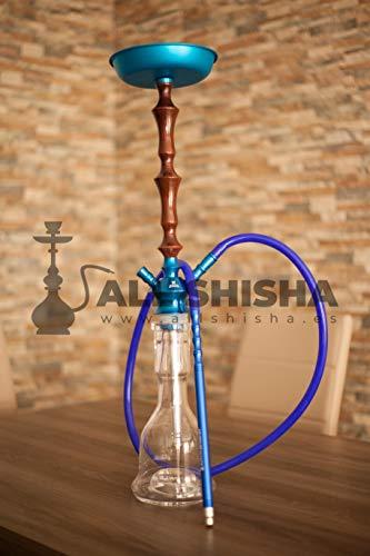 Allshisha Clear ELOX Tradi-Wood Blue 2S II El Keyif - Kaya Hookah Cachimba