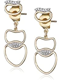 Fiorelli Gold Yellow Gold Open Organic Earrings y8kHKmPsxe