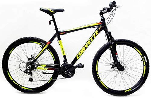Reset Bicicletta Mountain Bike MTB Ragazzo 29' 21V MTB Nomand Nero e Verde Llime