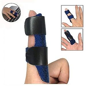 Trigger Fingerschiene für alle Finger Brace – Mallet Fingerschiene Support – Trigger Finger Richtstrebe Brace-Einstellbarer Fixiergurt mit integriertem Aluminium – Sehnenfreigabe und Schmerzlinderung