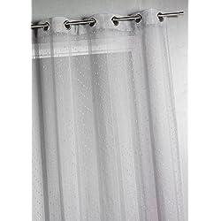 HomeMaison Voilage tissé et fileté à Grande Largeur, 100% Polyester, Gris, 300 x 240 cm