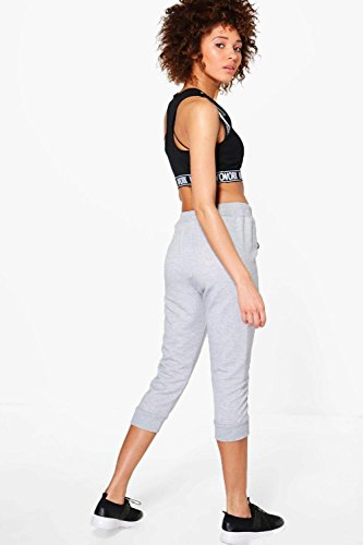 Damen Grau Lola Fit Crop Running Joggers Grau