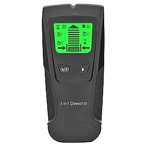 Andifany 3 en 1 Detector de Metales Encontrar Metal Espárragos de Madera Ac Voltaje Cable en Vivo Detectar Escáner de Pared Buscador de Cajas Eléctricas Detector de Pared