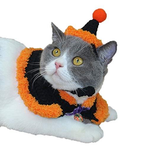 Katze Gefälschte Kragen Halloween Umhang Bib Halloween Hut Teddy Katze Hut Britisch Kurz Schönheit Kurz Hund Hut Schal-schwarz (größe : S) ()