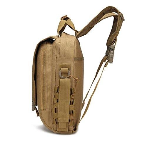LF&F Backpack Camping outdoor Zaini Borse Oxford Tactical Camouflage campeggio alpinismo all'aperto leggero impermeabile traspirante Piccolo tipo singolo a tracolla spalla D 20L B