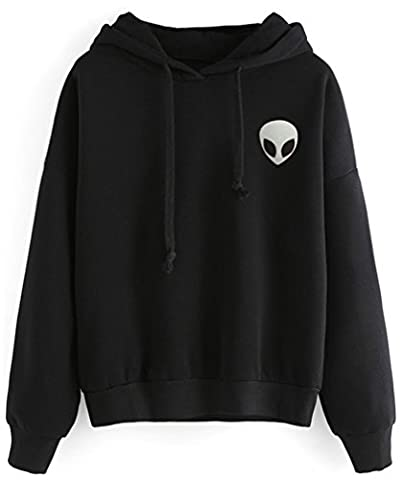Bettydom Sweat-shirt a Capuche Manches Longues Homme Pulls Manteau Hoodie Imprime(Large, 5-Noir)