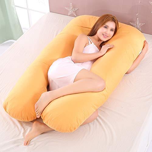 Jumbo-körper-kissen (Schwangere Frauen Körper U Form Sleeping Support Kissen, 100% Baumwolle Kissenbezug Mutterschaft Kissen Schwangerschaft Seitenschläfer, Ganzkörper Mutterschaft Kissen, Rückenstütze,Yellow,70X130cm)