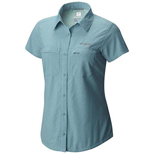 Columbia Irico Short Sle Camicia Maniche Lunghe, donna Teal Heather