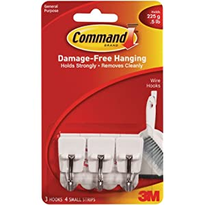 3M Command Wire Hooks, Multi-Colour, 1.3 x 9.9 x 17.1 cm