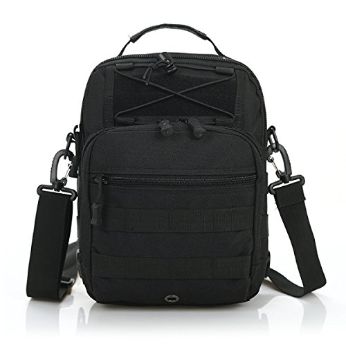 BULAGE Paket Farbe Große Kapazität Mode Sport Schulter Brust Tasche Militärische Fans Tarnung Outdoor Freizeit Diagonal Reiten Black