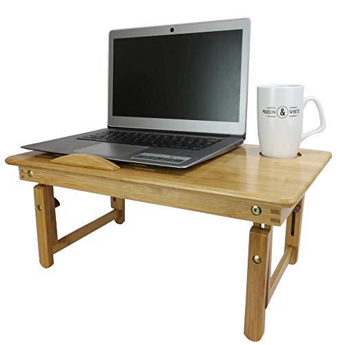 Soporte portátil plegable bambú | Escritorio cama