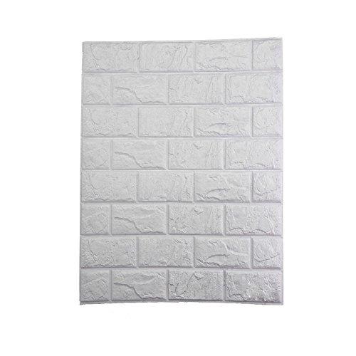 Demiawaking Backsteinmauer 3D Tapete Wandaufkleber Wasserdichte Tafel Aufkleber Abnehmbare Wandsticker Dekor PE 30X60cm