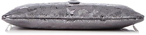 Chicca Borse Damen 1544 Henkeltasche, 25x16x7 Cm Grigio (ferro)